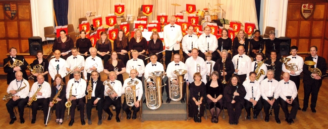 Barnet Band pictured at 120th anniversary concert