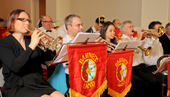 Barnet Band Brass Section