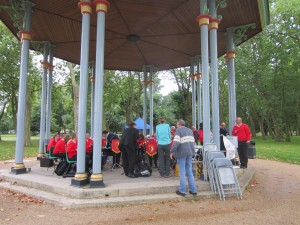 On the Bandstand at Victoria Park